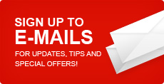 email signup for special discount coupon & product updates